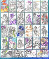 Sketch-a-Day: March/April Scribbles by carnival