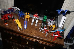 All the Zords by joemy7