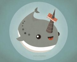 Chubby Narwhal and Bacon by orangecircle