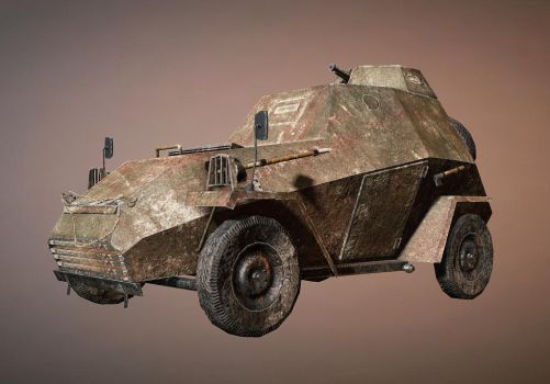 low poly armored car by LeDemonHacker