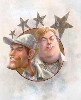 Leonard and bubba from redneck rampage by pondoeon