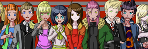 Dangan Ronpa: The Outcasts - Characters by ZephyrTisane