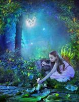 A Peaceful Garden of Fairies by Euselia