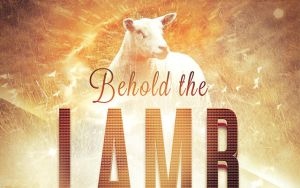 Behold the Lamb Church Flyer Template by loswl