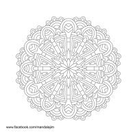 Free Mandala Line Art Day 4 of 10 by Mandala-Jim by Mandala-Jim
