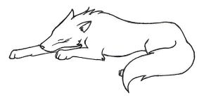 Sleeping Wolf by bloodyvampire18