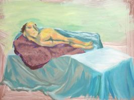 Resting Nude by flamingfish