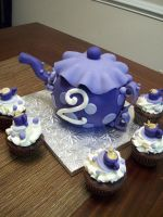 Purple Teapot cake by see-through-silence
