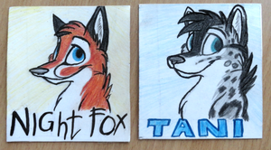 Badges for Tani and Night fox by Mimi-fox
