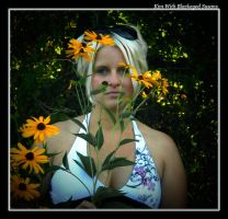 Kim with Blackeyed Susans by boron