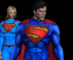 Superman and Supergirl by corporacion08