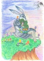 Bunnymund and OC (Kupala) the more the better =) by Nikityavka