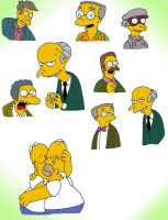 Some Simpsons Charas. by BUBBLE89
