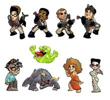 Ghostbusters Magnets by DerekHunter