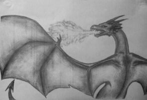 Fire breathing dragon by Sawphie