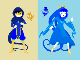 Homestuck AU - God Tiers Flopi-chan and Danni by dannichangirl