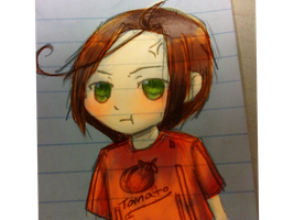 Blushing Chibi Romano (TEST) by C-cTwo