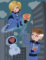 Sue and Reed Richards by fenderlove