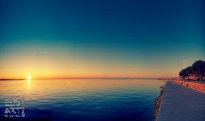 Sunset in Piran by eriksimonic
