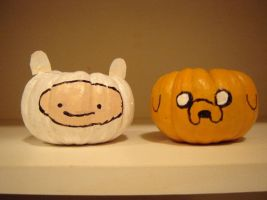 Adventure Time Pumpkins by Jhuyu26