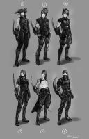 Shinrea Comic Character Concepts by Baranha