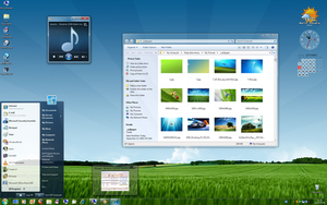 Win7 Aero on XP differently by stayman