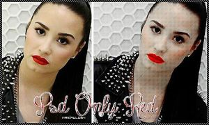 PSD Only Red~ by Mrsrulos