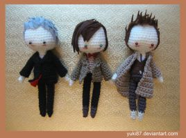 commission: 10th, 11th and 12th Doctor by Yuki87