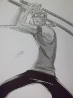 Roronoa Zoro, One Piece by TheGratefulDrawer