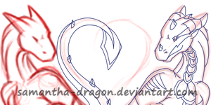 -WIP- -C- sketch of love icon by Samantha-dragon