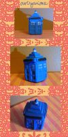 Mini Clay Tardis by EllieBracha