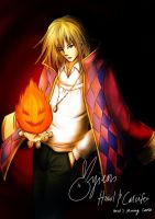 Howl and Calcifer by ayien-chan