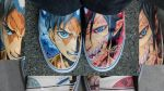 Shingeki No Kyojin Sneaker Painting by Nick-Ian