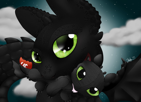 Toothless Loves Plushies  by TheLuminescence