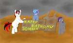 Somber birthday present by f1r3w4rr10r
