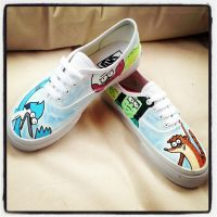 Regular Show Vans by VeryBadThing