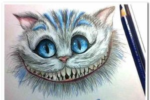 Alice-in-wonderland-cheshire-cat-drawing by 00014317