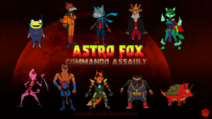 Astro Fox: Commando Assault by AnutDraws
