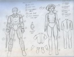 Action figure designs by kyletwilight