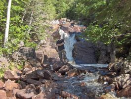 Waterfall in Newfoundland by canadianman000
