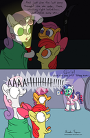 Cutie-Mark Crusaders Ghost Stories, YAY! - Day 23 by SketchinEtch