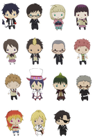 Ao No Exorcist Minis by queen-of-rainbows