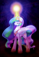 Princess Celestia by LimreiArt