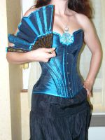 Blue Medallion Corset by Titania6