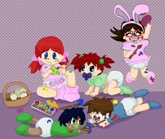 DA Family easter by toddlergirl