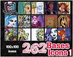 Monster High Icons Bases Pack 1 by Shippuu444