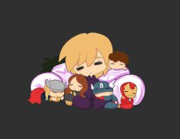 Avengers nap time by SheriffGraham