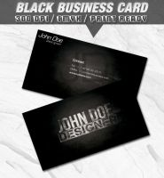 Black Business Card by retinathemes