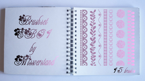 Brushset EB01, Borders by Missverstand