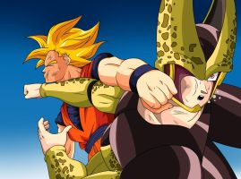 goku vs cell by trunks887